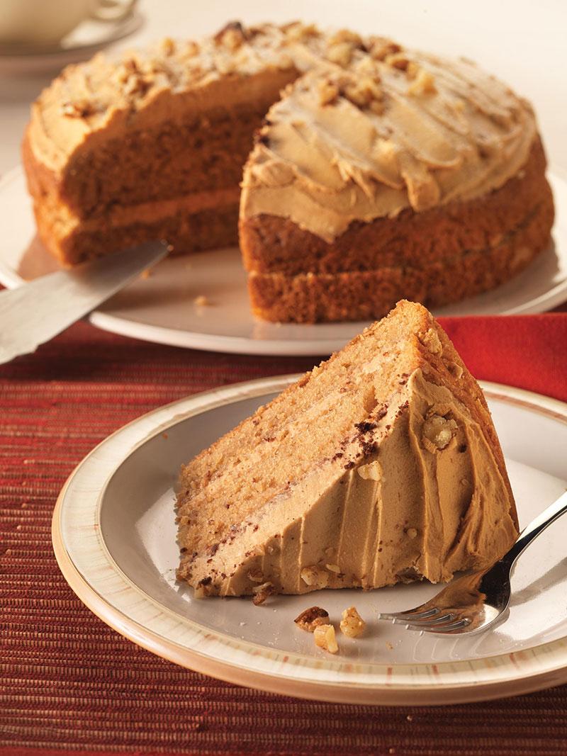 Eggless Coffee Walnut Cake