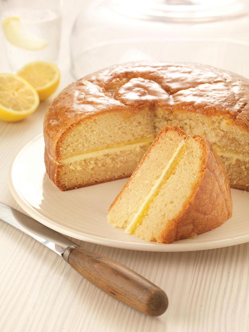Lemon Curd Cake Eggless