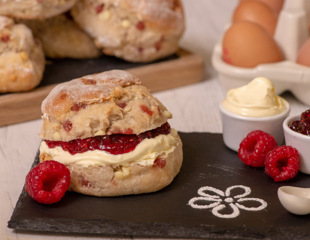 Ultimate Raspberry And White Chocolate Scones Cake